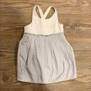 Zara Baby grey/white pleated dress sz 2/3~$30